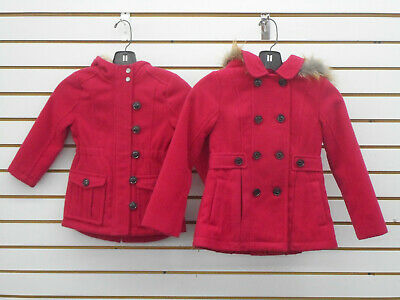 Toddler Girls Unbranded Assorted Red Hooded Pea Coats Size 3T