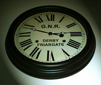 Great Northern Railway GNR Victorian Style Clock, Derby Friargate Station