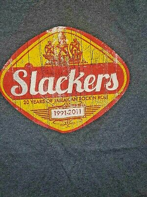 Slackers Vintage Tee Shirt 2011 Ska Rock Steady Reggae Rock