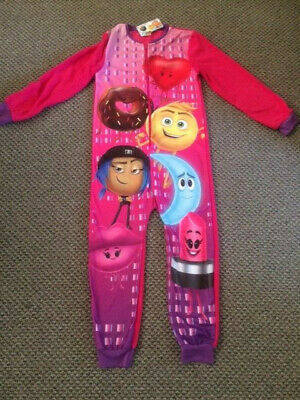 Girls Emoji Movie All In One Sleepsuit Size 9 - 10 years - New with Tags!!!