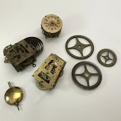 Bundle of Antique Brass Clock Parts : Spares/Repairs <HM04 /T3