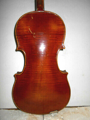 "Vintage Antique Old ""Jacobus Stainer"" 1 Pc. Back Full Size Violin - NR"