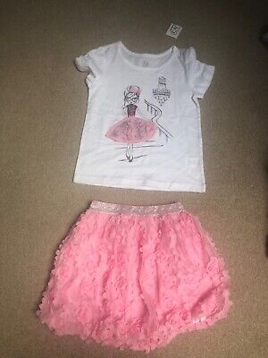 Bnwt The Children's Place Girls Outfit Size 3 Years 🎀 Skirt + T-shirt