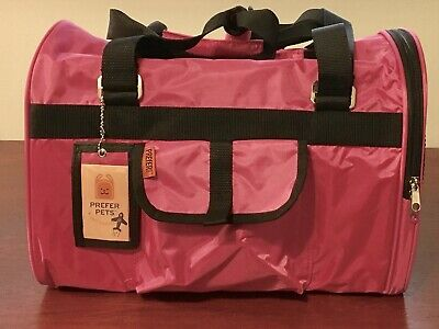 PreferPets Hideaway Pet Airline Approved Travel Carrier Duffel. Pink. Used, Nice