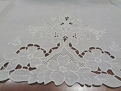 Antique 100% Linen hand decorated Very High End Bath Towels