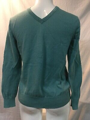 Mens Turquoise V-neck GAP Sweater 100% Cotton Size Small