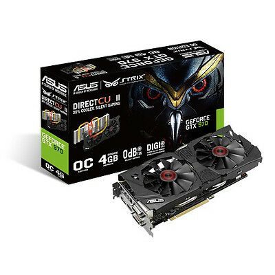 ASUS Strix Nvidia GeForce GTX 970 OC 4GB Graphic Card