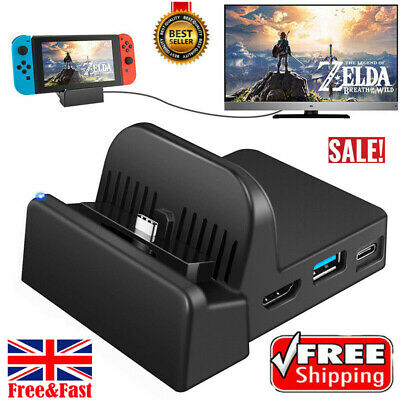 Cooling For Nintendo Switch NS HDMI 4K Adapter TV Charger Charging Dock Stand GB