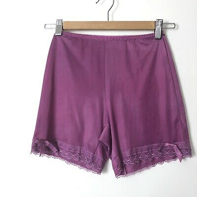 Vintage Bloomers Purple Petti Pants Hand Dyed Tap Pants Lace Trim Pillow Tab