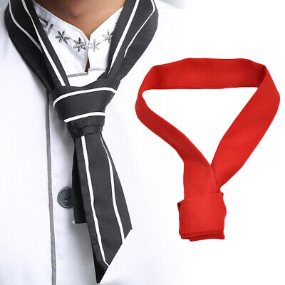 KE_ Chef Neck Tie Neckerchief Scarf Restaurant Hotel Waiter Sweat Towel Striki