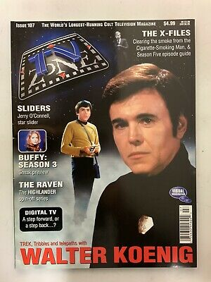 TV Zone Cult TV Magazine October 1998 Issue#107 Babylon 5 Walter Koenig