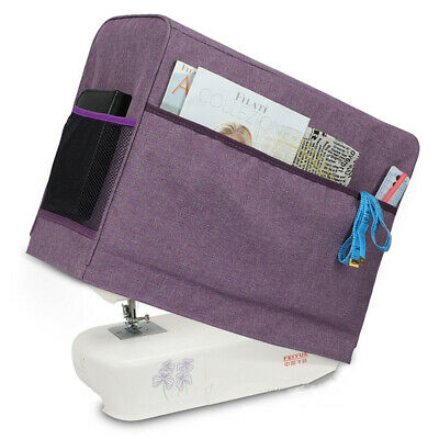 Sewing Machine Dust Cover W 3 Storage Pockets for Most Standard Singer Brother