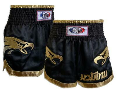 "Muay Thai Shorts /""CROWN Muay Thai/"" Black"