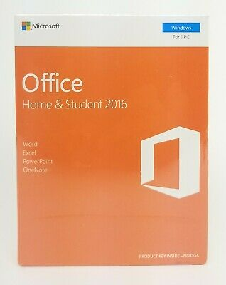 Microsoft Office Home and Student 2016 English Eurozone Windows For 1 PC