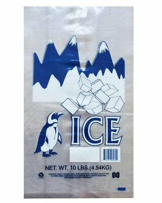 Pack of 1000 Ice Bags with Twist Ties 12 x 21 Printed Bags Ice Bags with