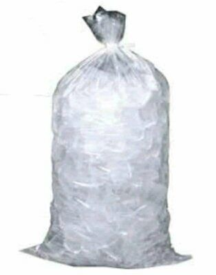 Pack of 250 Ice Bags with Twist Ties 18 x 4 x 36 Capacity 50 lbs