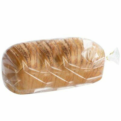 100 Poly Bakery Bread Bags 6 x 3 x 15 Clear Gusseted Bags 6 x 3