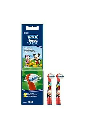 Braun Oral-B Mickey mouse Toothbrush Replacement Brush Head stages power 1