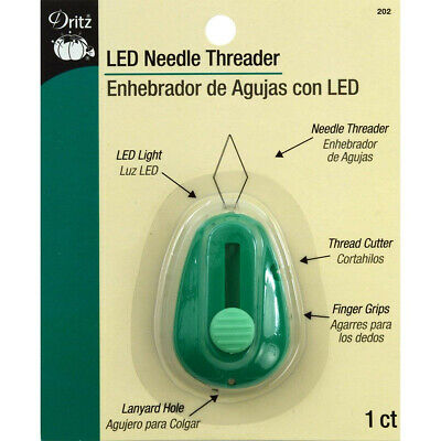 Needle Threader With Led Light Dritz Plus Thread Cutter