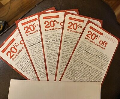 5 PACK!! Target 20% Off Coupon Valid From 12/3-12/14/19! CHECK EXCLUSIONS!