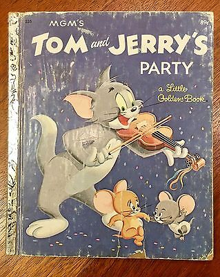 Tom And Jerry's Party, Signed By Bill Hanna, Little Golden Book, Scarce