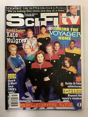 SciFi TV February 1999 Isuue#3 Magazine Babylon 5 Star Trek