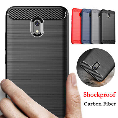 For Xiaomi Redmi 8 8A 7 7A 6 GO Shockproof Carbon Fiber Soft Silicone Case Cover