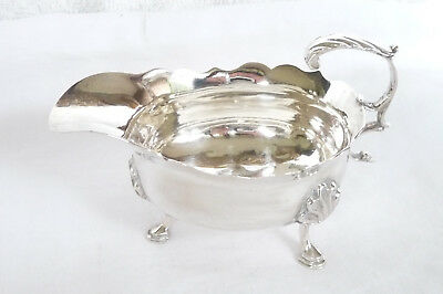 Antique George III Sterling Silver Sauce Boat : London 1767
