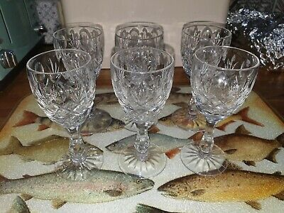 Set of 6 Crystal Cut Glass Sherry/Liqueur Glasses, Christmas, Festive, Party!!