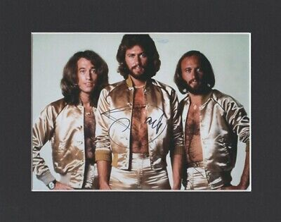 Barry Gibb Bee Gees Stayin Alive Original Signed Mounted Autograph Photo Coa