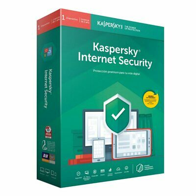 Kaspersky Internet Security 2020 1PC 1AÑO - en Español - licencia original