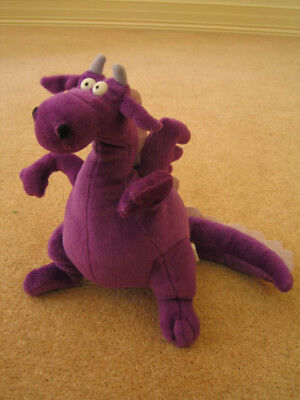 Purple happy dragen soft toy - used,