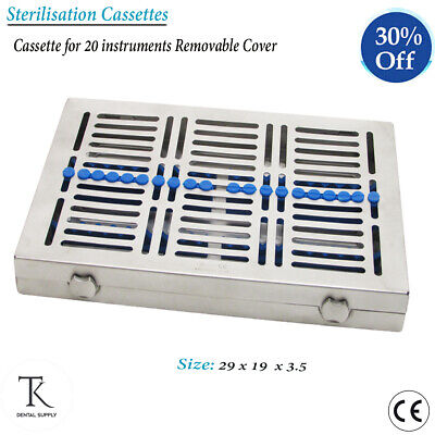 Surgical instruments Sterilization Cassettes For 20 Instruments Removable Cover