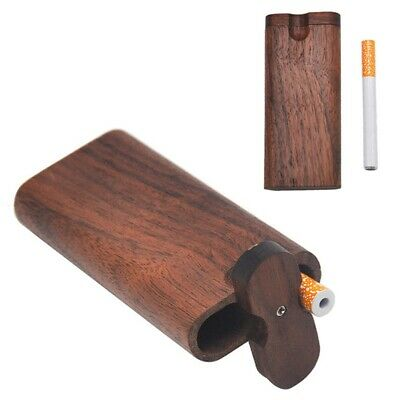 Swivel Cap Wood Dugout One Hitter Stash Box Set Gift for Smoker Zl