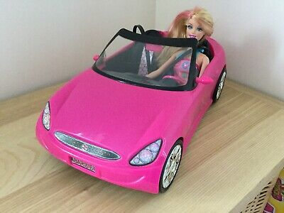 Barbie Pink Convertible Car And Barbie Doll Set