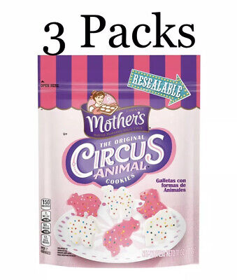 Mother/'s Circus Animal Resealable Snack Cookies 11 oz Each Bag 3 Pack