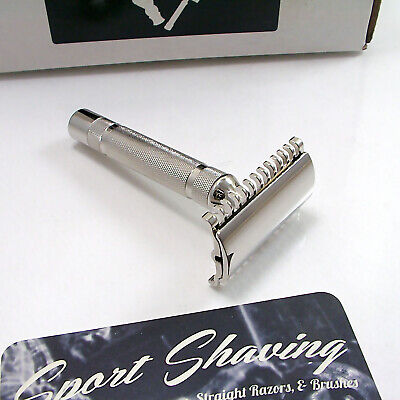 Newly Replated Gillette 1930s Long Comb New 3 piece Double Edge Safety Razor