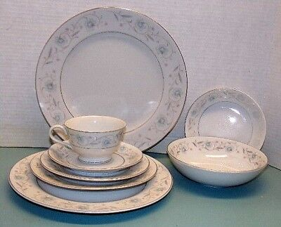 Vintage English Garden 8 Piece Place Setting -  Fine China #1221 - Japan