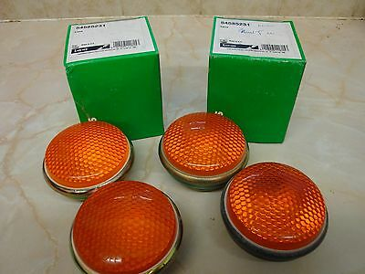 Land Rover Military  -  Front Indicator Lens - Amber - x 2 - NEW