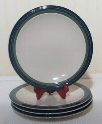 """Pfaltzgraff  Ocean Breeze 10"""" Dinner Plates  Set of 4  Made in the USA"""