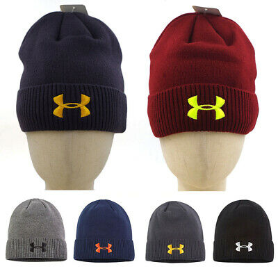 Unisex Under Armour Hat Beanie Knitted Embroidered UA Winter Warm Outdoor Cap