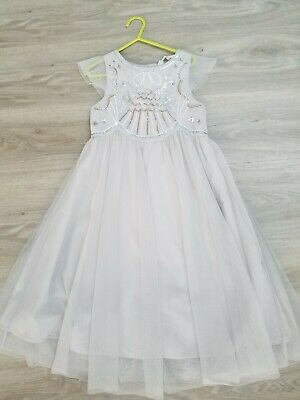 Girls party / Christmas sparkly silver dress from H&M age 7-8 years