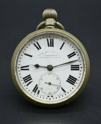 Antique West End Watch Co. Competition Bombay-Calcutta Swiss Made pocket watch