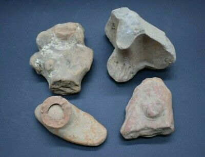 Mixed lot of ancient Greek terracotta idol fragments 1st millennium BC