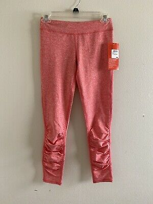Zella Girl NWT Leggings Big Girls Size L Coral Spacedye Ruched Front Nordstrom