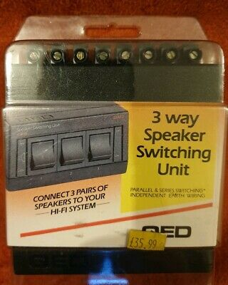 Vintage QED MA33 3 Way Speaker Switching Unit New Sealed