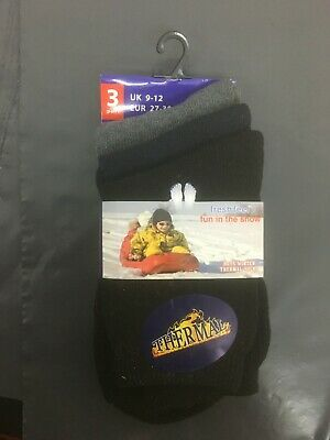 3 6 12 Pairs Kids Children Boys Girls Soft Thick Thermal Heat Warm Winter Socks