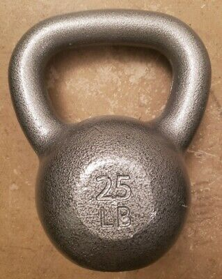 25lb Kettlebell for crossfit Cap FREE SHIP home gym weight