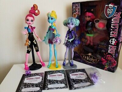 Monster High Dolls 13 Wishes Complete Set - Diaries, PETS, Stands RARE.