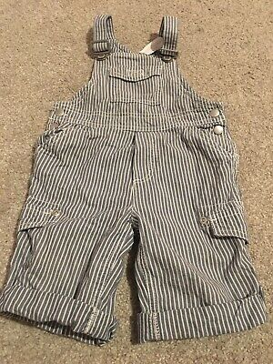 The Little White Company Stripe Dungarees 3-6